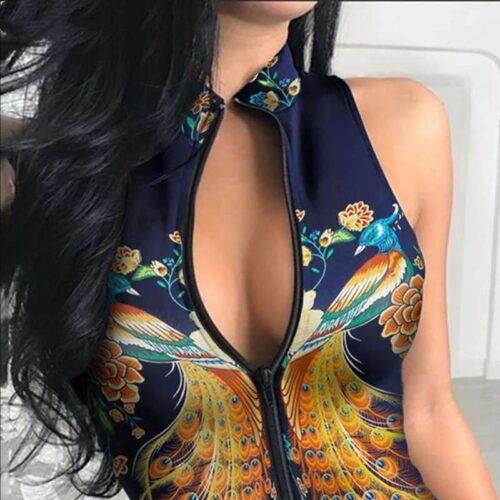 peacock bodysuit