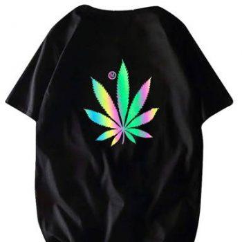 Weed Reflective tshirt