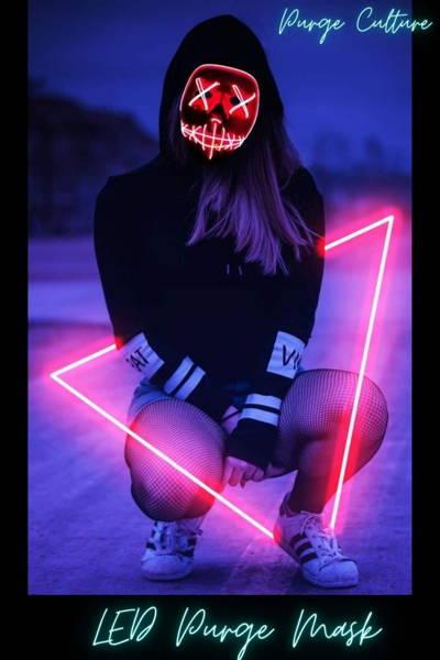 girl led mask purge costume