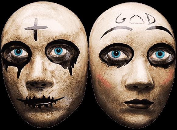 god and cross mask