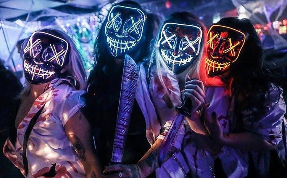 led mask group purge costumes