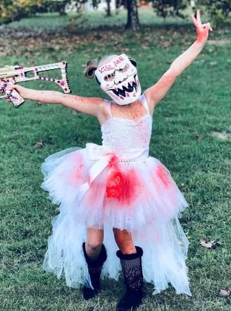 little girl kids purge cotume