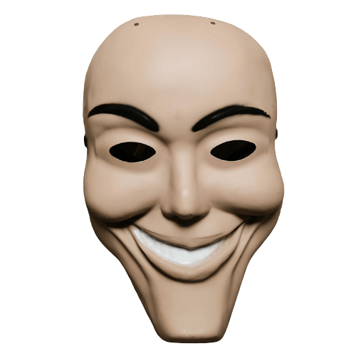 purge smiling mask