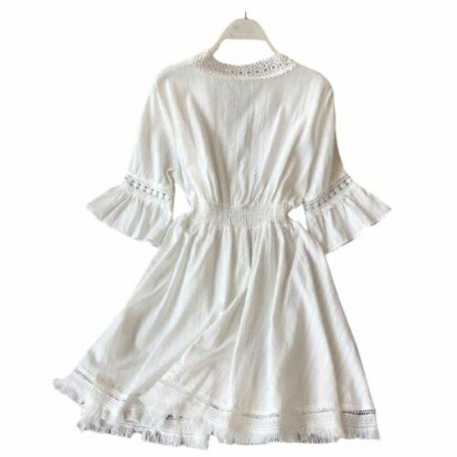 white purge dress