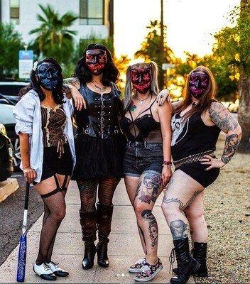 badass girls purge costumes