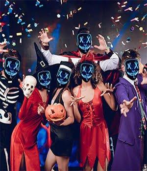 boys girls group led mask costum