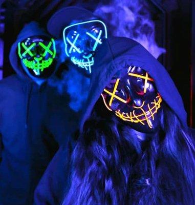 led purge mask group costumes