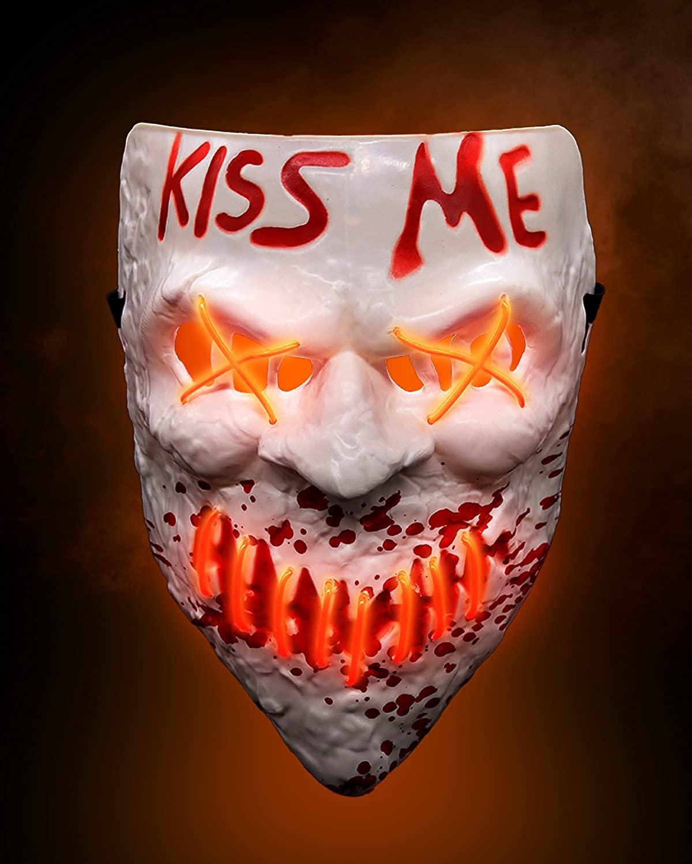led kiss me mask